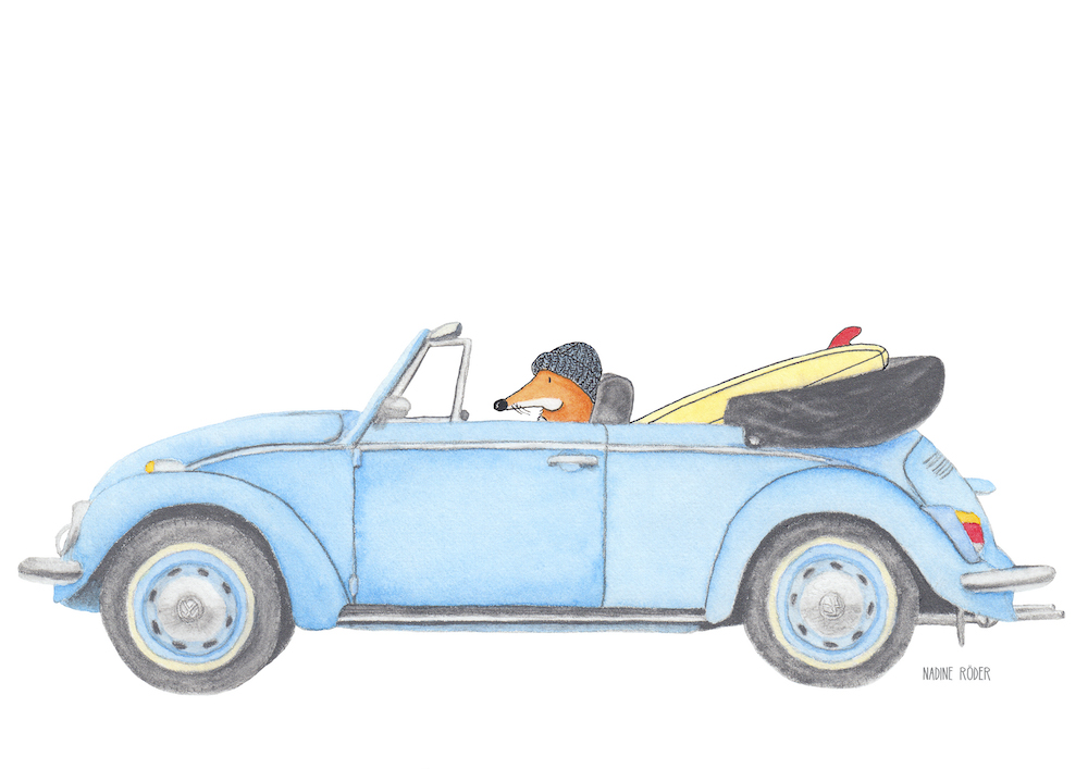 https://nadineroeder.com/wp-content/uploads/2020/02/Nadine-Roeder-Illustration-Surfing-Animals-Club-Surf-Road-Trip-VW-Beetle-Cabrio.jpg