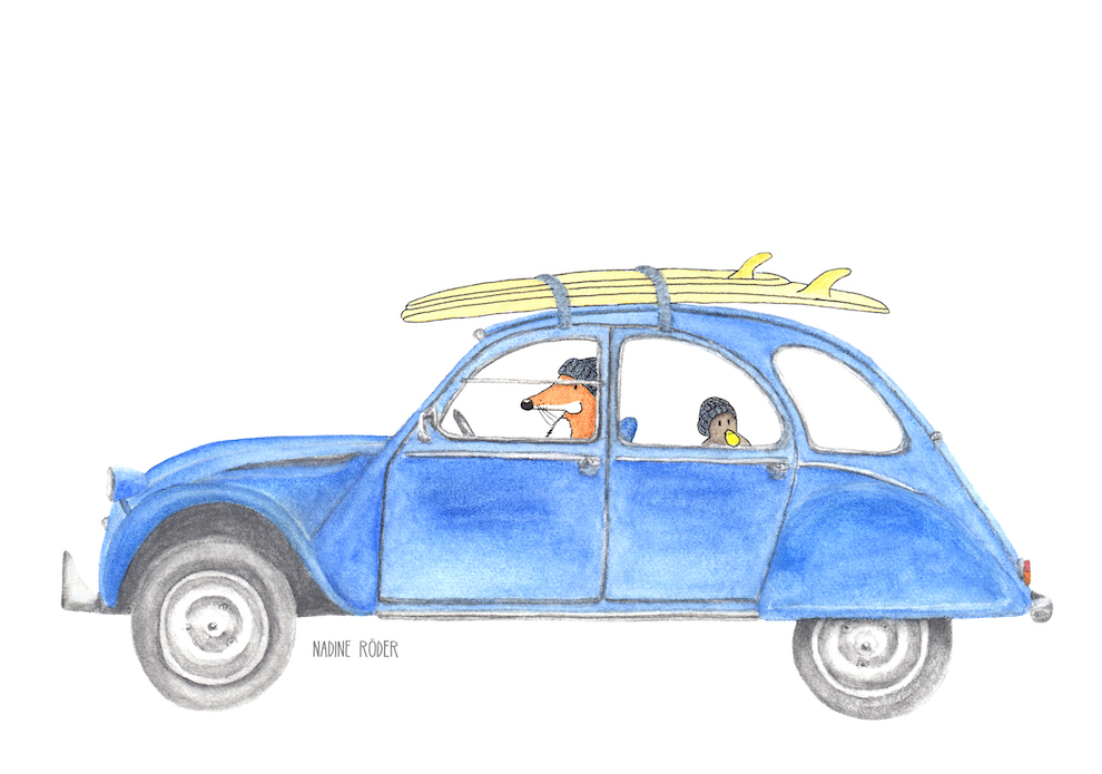 https://nadineroeder.com/wp-content/uploads/2020/04/Nadine-Roeder-Illustration-Surfing-Animals-Club-Surf-Road-Trip-Citroen-2CV.jpg