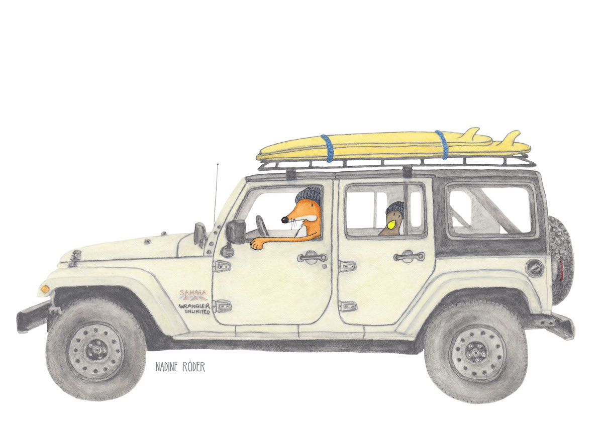 https://nadineroeder.com/wp-content/uploads/2020/06/Nadine-Roeder-Illustration-Surfing-Animals-Club-Surf-Road-Trip-Jeep-Wrangler.jpg