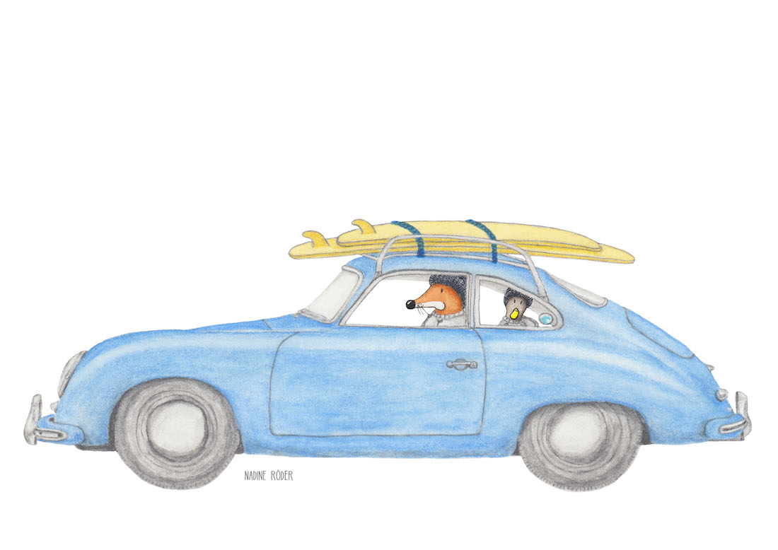 https://nadineroeder.com/wp-content/uploads/2020/07/Nadine-Roeder-Illustration-Surfing-Animals-Club-Surf-Road-Trip-Porsche-356.jpg
