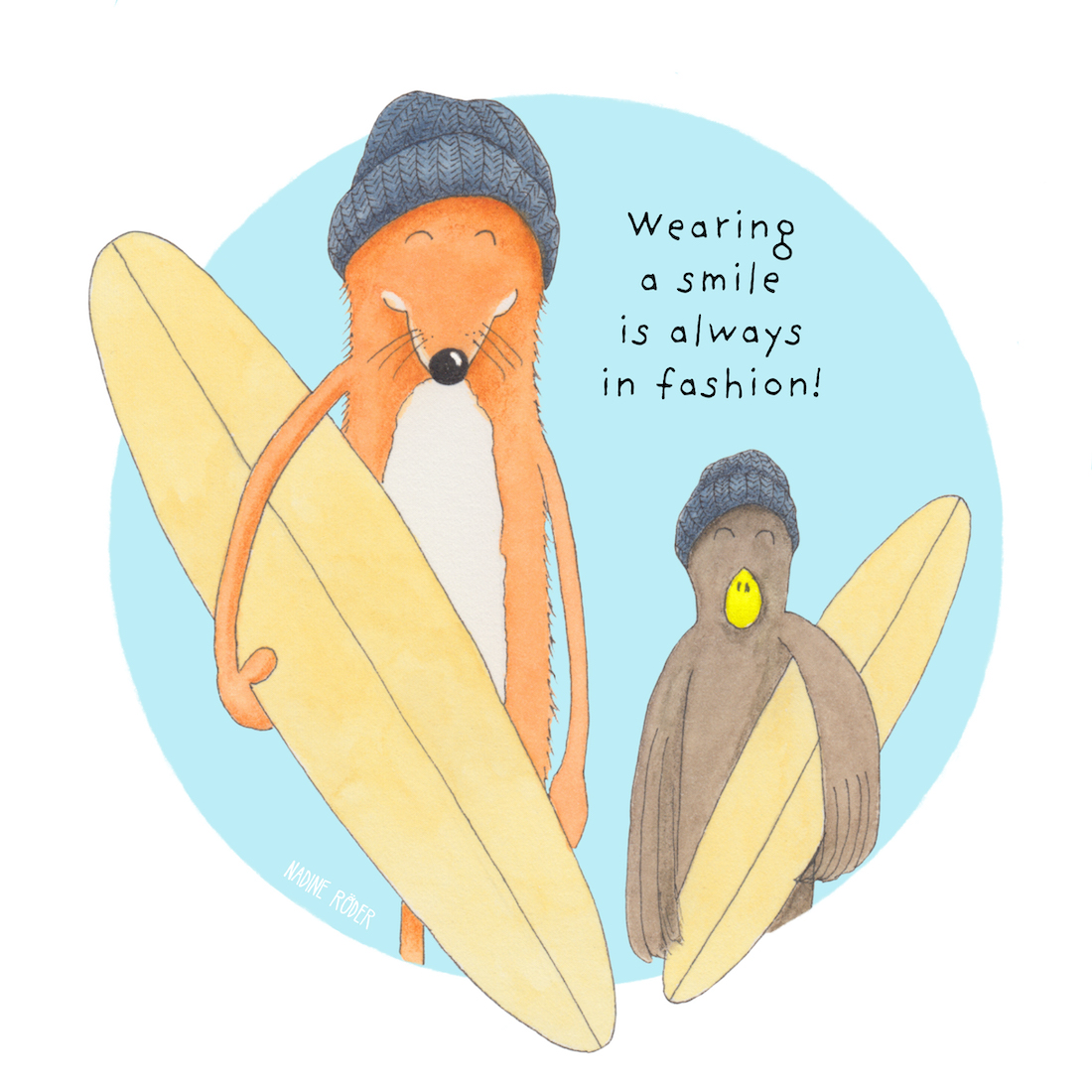https://nadineroeder.com/wp-content/uploads/2020/12/Nadine-Roeder-Illustration-Surfing-Animals-Club-Wearing-a-smile.jpg